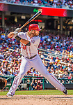 25 July 2013: Washington Nationals outfielder Jayson Werth at bat against the Pittsburgh Pirates at Nationals Park in Washington, DC. The Nationals salvaged the last game of their series, winning 9-7 ending their 6-game losing streak. Mandatory Credit: Ed Wolfstein Photo *** RAW (NEF) Image File Available ***