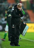 FUSSBALL   1. BUNDESLIGA   SAISON 2012/2013    22. SPIELTAG SV Werder Bremen - SC Freiburg                                16.02.2013 Trainer Thomas Schaaf (SV Werder Bremen)   ist enttaeuscht