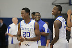 University of Kentucky basketball players pose for photos during media photo day in Lexington, Ky., on Aug. 25, 2011. Photo by Scott Hannigan