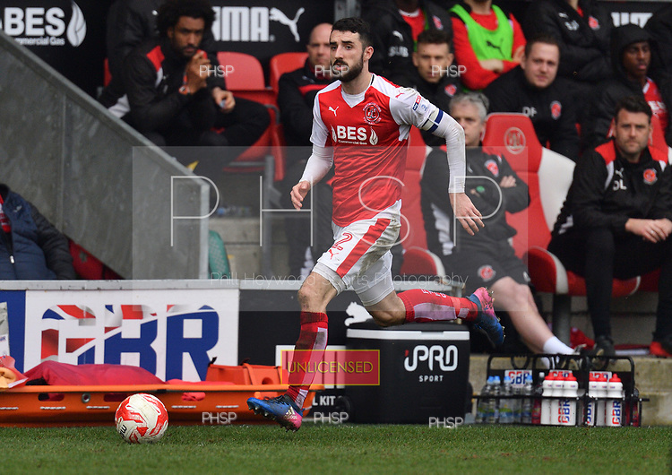 11/03/2017 Sky Bet League 1 Fleetwood Town v Bolton Wanderers<br /> <br /> Conor McLaughlin, Fleetwood Town FC