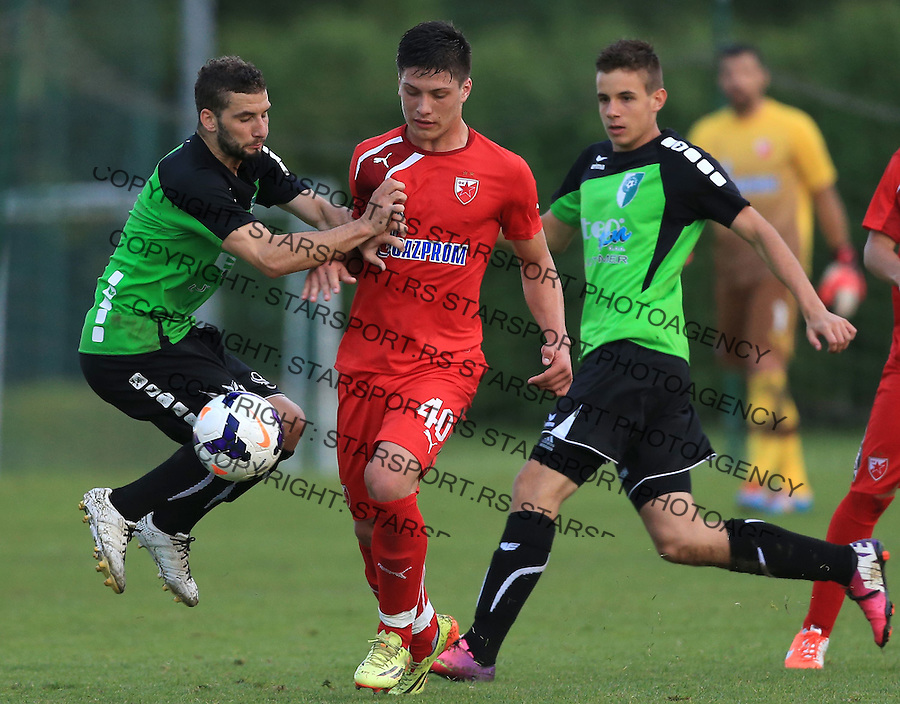 Fudbal season 2013-2014<br /> FK Crvena Zvezda pripreme<br /> Prijateljski mec<br /> Crvena Zvezda v Verzej<br /> Luka Jovic (C)<br /> Brezice, 07.09.2014.<br /> foto: Srdjan Stevanovic/Starsportphoto &copy;