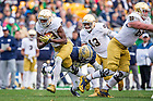 Nov. 7, 2015; Running back Josh Adams (33) in action against Pitt. (Photo by Matt Cashore)