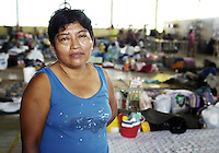 Maria Magdalena Gonzalez Perez, 46 years old, lost both her sister and mother in the floods caused by Huricane Stan.  Club Campestre shelter, Tapachula, Chiapas.