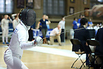 12 February 2017: UNC's Justine de Grasse during her Epee match. The University of North Carolina Tar Heels played the Northwestern University Wildcats at Card Gym in Durham, North Carolina in a 2017 College Women's Fencing match. UNC won the dual match 15-12 overall, 5-4 Foil, 5-4 Epee, and 5-4 Saber.