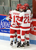 Kaleigh Fratkin (BU - 13), Louise Warren (BU - 28) - The Boston University Terriers defeated the visiting Union College Dutchwomen 6-2 on Saturday, December 13, 2012, at Walter Brown Arena in Boston, Massachusetts.