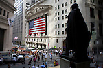 The New York Stock Exchange on Wall Street, New York City, New York, USA, September 15, 2008