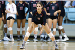 10 September 2015: Stanford's Sarah Benjamin. The University of North Carolina Tar Heels hosted the Stanford University Cardinal at Carmichael Arena in Chapel Hill, NC in a 2015 NCAA Division I Women's Volleyball contest. North Carolina won the match 25-17, 27-25, 25-22.