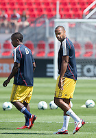 20 July 2013: New York Red Bulls forward Thierry Henry #14 walks onto the pitch for warm-ups during an MLS regular season game between the New York Red Bulls and Toronto FC at BMO Field in Toronto, Ontario Canada.<br /> The game ended in a 0-0 draw.