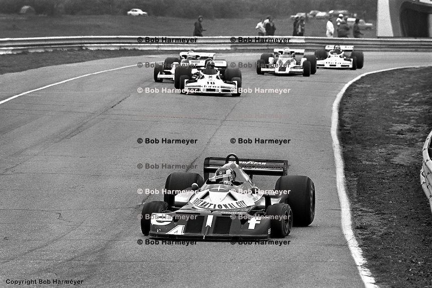 BOWMANVILLE, ONT - OCTOBER 9: Patrick Depailler drives the Tyrrell P34 7/Ford Cosworth DFV during the Canadian Grand Prix on October 9, 1977, at Mosport Park near Bowmanville, Ontario.