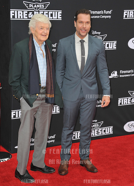 Hal Holbrook &amp; Dane Cook (right) at the world premiere of their movie Disney's &quot;Planes: Fire &amp; Rescue&quot; at the El Capitan Theatre, Hollywood.<br /> July 15, 2014  Los Angeles, CA<br /> Picture: Paul Smith / Featureflash