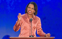Condeleezza Rice speaks to the Republican National Convention