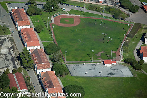 aerial photograph baseball diamond Presidio of San Francisco
