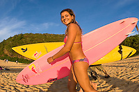 Waimea Bay, Hawaii, Thursday December 4 2008 .North Shore of Oahu,. MAYA GABEIRA (BRA). The opening ceremony of the Quiksilver in Memory of Eddie Aikau Big Wave Invitational was held today at Waimea Bay.  This year's event celebrates the 24th anniversary of this unique big wave riding event. Photo: joliphotos.com