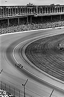 INDIANAPOLIS, IN - MAY 27: AJ Foyt drives his Parnelli VPJ6C 005/Cosworth TC through Turn 1 during the Indy 500 at the Indianapolis Motor Speedway in Indianapolis, Indiana, on May 27, 1979.