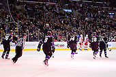Team Los Angeles Kings during ice-hockey match between Los Angeles Kings and Detroit Red Wings in NHL league, February 28, 2011 at Staples Center, Los Angeles, USA. (Photo By Matic Klansek Velej / Sportida.com)