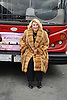 "Joan Rivers  honored by Gray Line New York with a ""Ride of Fame"" bus with their name on a decal in the front of the bus on March 1, 2013 at Pier 78 in New York City."
