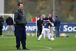 05 November 2008: UNC head coach Anson Dorrance. The University of North Carolina defeated the University of Miami 1-0 at Koka Booth Stadium at WakeMed Soccer Park in Cary, NC in a women's ACC tournament quarterfinal game.