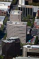 aerial photograph First Bank, Bridge Bank,  San Jose, San Clara county, California