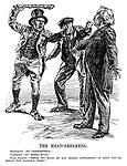 """The Head-breakers. Nationalist. """"No conscription!"""" Ulsterman. """"No Home Rule!"""" Prime Minister. """"Break my head by all means, gentleman - if only you'll break the Kaiser's first!"""""""