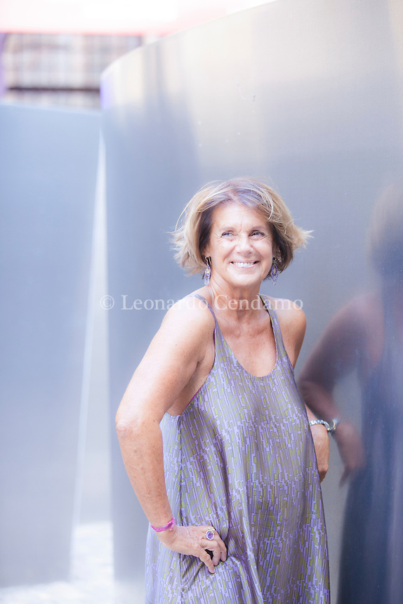 Lella Costa, all'anagrafe Gabriella Costa, è un'attrice, scrittrice e doppiatrice italiana, famosa soprattutto per i suoi monologhi teatrali. Mantova Festivaletteratura 2016. © Leonardo Cendamo