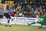 St Johnstone v Dunfermline....25.02.12   SPL.Callum Davidson makes it 2-0.Picture by Graeme Hart..Copyright Perthshire Picture Agency.Tel: 01738 623350  Mobile: 07990 594431