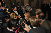 Washington, DC - January 27, 2009 -- United States Senator Kirsten Gillibrand (Democrat of New York) meets reporters outside the Old Senate Chamber of the United States Capitol in Washington, D.C. on Tuesday, January 27, 2009..Credit: Ron Sachs / CNP.(RESTRICTION: NO New York or New Jersey Newspapers or newspapers within a 75 mile radius of New York City)