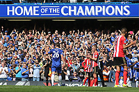 John Terry is substituted in the 26th minute and waves at the Chelsea fans as he leaves the pitch during Chelsea vs Sunderland AFC, Premier League Football at Stamford Bridge on 21st May 2017