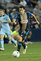 Union midfielder Michael Farfan in action..Sporting Kansas City defeated Philadelphia Union 2-1 at LIVESTRONG Sporting Park, Kansas City, KS.