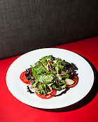 The Bolt Salad: mixed greens, tomatoes, poached pears and a balsamic vinaigrette, Bolt Bistro, 219 Fayetteville Street, Raleigh, Thursday, Nov. 1, 2012.