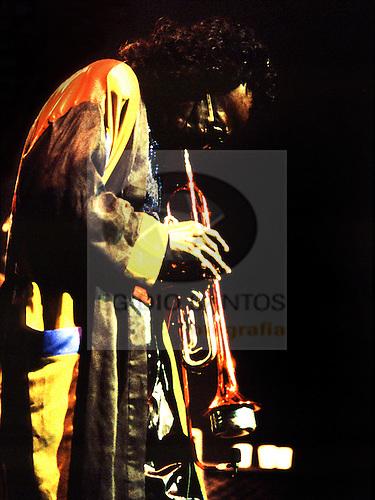 Miles Davis, playing in Coliseu do Porto, Porto, in 1991.