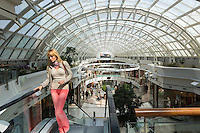 Shoppers at Istinye Park shopping center mall near Levent financial and business district of Istanbul, Turkey