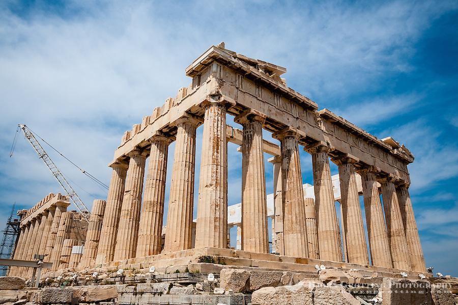 Greece  Athens  The Acropolis with several famous ancient strucures    Ancient Greek Architecture Acropolis