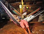 Sarstoon Creek mountain community with 28 families, near Livingston, Guatemala