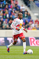 Dane Richards (19) of the New York Red Bulls. The New York Red Bulls defeated the Colorado Rapids 4-1 during a Major League Soccer (MLS) match at Red Bull Arena in Harrison, NJ, on March 25, 2012.