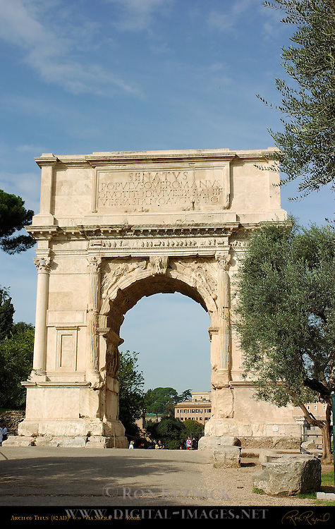 Arch of Titus 82 AD East side Via Sacra Forum Romanum Rome