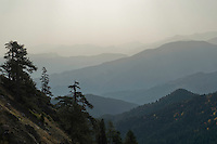 Greece, Pindos Mountains, Pindos NP, Valia Calda, Landscape with layered hills