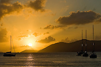 Sunset from Cane Garden Bay<br /> Tortola<br /> Virgin Gorda