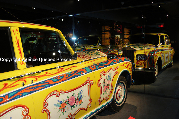 March 2013 - Montreal, Quebec,  CANADA -   BEATLES Exhibit at Montreal's Pointe-a-Calliere Museum