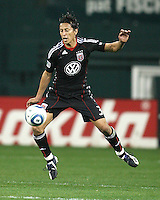 Juan Manuel Pena #3 of D.C. United during an MLS match against the New England Revolution on April 3 2010, at RFK Stadium in Washington D.C.
