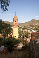 The Spanish colonial mining ghost town of Cerro de San Pedro, San Luis Potosi state, Mexico