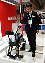 Nobember 9, 2011, Tokyo, Japan - A wayfinding guide mobile robot for the visually impaired is on demonstration during the International Robot Exhibition 2011 opened in Tokyo on Wednesday, November 9, 2011. The three-day trade show, sponsored by the Japan Robot Association, was designed promote new products and develop new business through contributing the promotion of new technology. (Photo by Natsuki Sakai/AFLO) [3615] -mis-..