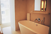 Bathroom at the St Martins Lane Hotel in London designed by philippe stark. 08-02