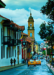 Colombia, Bogota, Tower of the Catedral Primada, Calle 11, Bogota Mint Museum