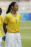 12 August 2008: Daniela (BRA).  The women's Olympic team of Brazil defeated the women's Olympic soccer team of Nigeria 3-1 at Beijing Workers' Stadium in Beijing, China in a Group F round-robin match in the Women's Olympic Football competition.