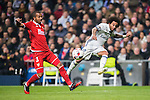Marcelo Vieira Da Silva (r) of Real Madrid battles for the ball with Mariano Ferreira Filho of Sevilla FC during their Copa del Rey Round of 16 match between Real Madrid and Sevilla FC at the Santiago Bernabeu Stadium on 04 January 2017 in Madrid, Spain. Photo by Diego Gonzalez Souto / Power Sport Images