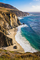 beach, Big Sur coast, California, USA, Pacific Ocean