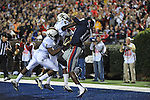 Mississippi wide receiver Vince Sanders (10) makes a touchdown catch over Vanderbilt safety Kenny Ladler (1) and Vanderbilt defensive back Trey Wilson (8) at Vaught-Hemingway Stadium in Oxford, Miss. on Saturday, November 10, 2012.