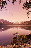 view of beautiful Slocan Lake, within the Selkirk Mountain Range, in the West Kootenay region of British Columbia.