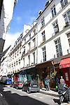 Shops and apartments on Rue Saint-Louis en L'ile, Ile de la Cite, Paris, France