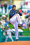 3 March 2010: Atlanta Braves' pitcher Mariano Gomez in action during a Grapefruit League game against the New York Mets at Champion Stadium in the ESPN Wide World of Sports Complex in Orlando, Florida. The Braves defeated the Mets 9-5 in the Spring Training matchup. Mandatory Credit: Ed Wolfstein Photo
